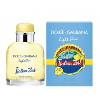 D&G LIGHT BLUE ITALIAN ZEST POUR HOMME 75ml NEW 2018