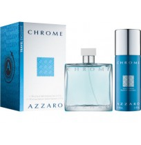 AZZARO CHROME set (edt 100+150 deo spray)